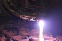 Closeup of Flame Spray of Mechanical Seals